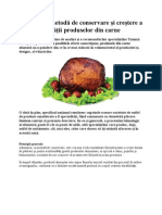 Afumarea, metodă de conservare şi creştere a calităţii produselor din carne
