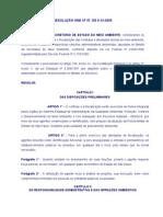 RESOL SMA 37 de 09-12-2005 Condutas e Atividades Lesivas M A