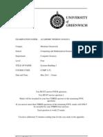 COMP1152 Systems Building 1 Exam1011