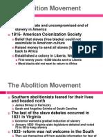 Chapter 10-Part 1 Abolition