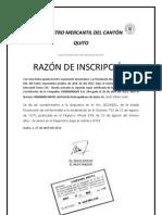 INSCRIPCIÓN REGISTRO MERCANTIL