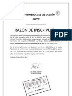 INSCRIPCIÓN REGISTRO MERCANTIL