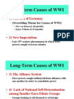 Chapter 14-Reading Notes p.3-13 Origins and Causes of World War I McDonough