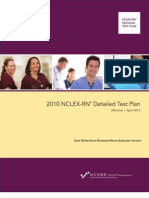 2010 NCLEX RN Detailed Test Plan Educator