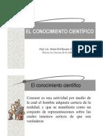 EL CONOCIMIENTO CIENT+ìFICO