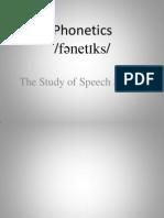 Phonetics 3