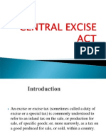 Legal Aspects of Tax and Business -- CENTRAL EXCISE