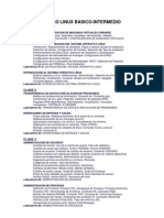 Temario de Curso Linux Basico-Intermedio