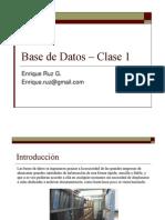 Base de Datos – Clase 1