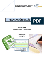Planeacion Didactica Hoja de Calculo y Operaciones 2011B