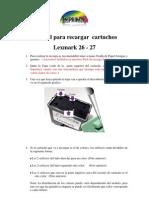 recarga lexmark 26