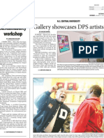 The Herald-Sun- Gallery Showcases DPS Artists- Page 1- Saturday Jan 21- Durham