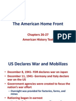 Chapter 16-The American Home Front