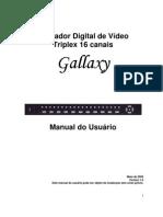 Manual DVR Gallaxy T 16 CANAIS PORTUGUÊS-BR