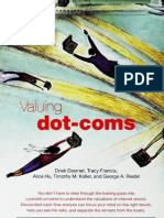 Valuing Dot Coms