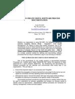 Useful Software Process Documentation