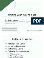 Writing Your Way to Job