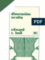 Edward Hall - La Dimension Oculta