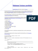 Back Testing Minimum Variance Portfolios Systemic Investor
