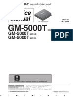 Pioneer GM-5000T Service Manual