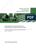 Subnational Finance for Infrastructure