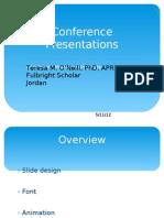 Conference Presentations (Dr. Teresa)