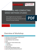 Designing and Conducting Mixed Methods Studies
