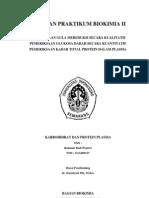 Laporan Praktikum Biokimia II