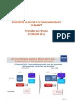 Renforcer la filière de l'immunothérapie en France
