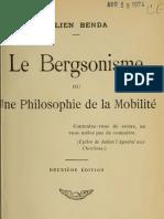 Julien Benda - Le Bergsonisme ou une Philosophie de la mobilité