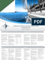ACI Marina Price List en 2011