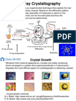 x-ray crystallography f