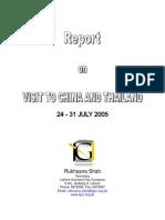 China Visit Report