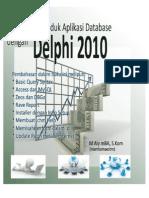 Pembuatan Produk Aplikasi Database Dengan Delphi 2010