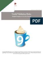 Sales Force Useful Validation Formulas