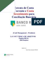 Extrato de conta corrente Real CNAB 200