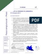 Congiuntura_Prezzi_Lombardia_num 1 - IV 2011