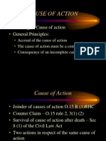 1. Cause of Action
