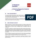 Acca Prospective Student Information Sheet-egypt Jan09