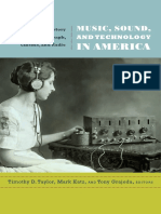 Music, Sound, and Technology in America, edited by Timothy Taylor, Mark Katz, and Tony Grajeda