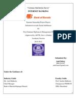 "Customer Satisfaction Survey- Internet Banking ""Bank of Baroda"" by- Amit Dubey"