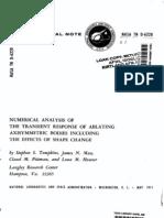 Numerical Analysis - Ablation