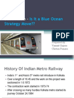 Delhi Metro - Is It a Blue Ocean move or not