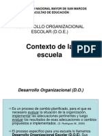 mapa mental desarrollo organizacional en la educación