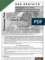 Simulado AGENTE POLICIA FEDERAL - CESPE