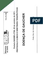 Apresentação sobre o PCDT para Doenca de Gaucher