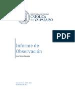 Informe de Observación