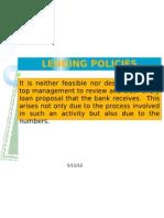 Lending Policies