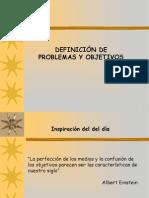 DEFINICIÓN DE PROBLEMAS Y OBJETIVOS