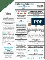 Newsletter 5-11-2012